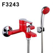 F3243 Смеситель для ванны с душем картридж 35мм короткий излив FRAP 3243 Красный