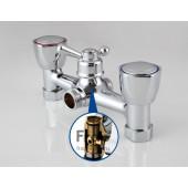 F2209 Смеситель для ванны 2-х вентильный с шаровым переключением на душ S-нос FRAP 2209