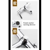 F3244 Смеситель для ванны с душем картридж 35мм короткий излив кнопка переключения на душ FRAP 3244