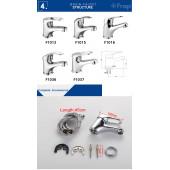F1036 Смеситель для умывальника литой корпус картридж 35мм FRAP 1036