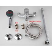 F2213 Смеситель для ванны с душем картридж 35мм L-нос 40см FRAP 2213