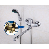 F22007 Смеситель для ванны с душем картридж 40мм L-нос 30см FRAP 22007 (облегченный)