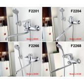 F2201 Смеситель для ванны с душем картридж 40мм S-нос 40см FRAP 2201