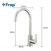 F4048 Смеситель для кухни высокий излив из нержавеющей стали FRAP 4048