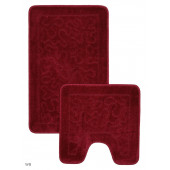 Набор ковриков д/ванной Zalel 2 пр. 55х85 (бордовый)