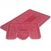 Набор ковриков д/ванной Zalel 2 пр. 60х100 (розовый)