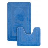 Набор ковриков д/ванной Zalel 2 пр. 60х100 (голубой)