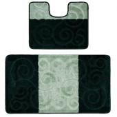 Комплект ковриков Confetti Multicolor 2шт 50х80/40х50см (темно-зеленый) 1/28 CONF.04.2/50*80-536