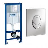 Система инсталляции для подвесного унитаза Grohe Rapid SL 38721001 (3 в 1) 38721001 кнопка круглая