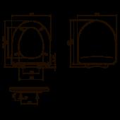 КВ1-1 ОРИО крышка для унитаза универсальная белая