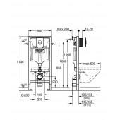 Система инсталяции для подвесного унитаза Grohe Rapid SL 38772001 (3 в 1) квадратная