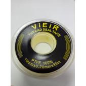 Фум-лента вода желтая 19х0,2х35м VIEIR VR8095 (черн этикетка большая)