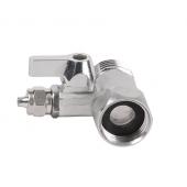Кран КБП-14-12 Подключение (1/2) шланга (1/4) питьевых систем к водоснабжению
