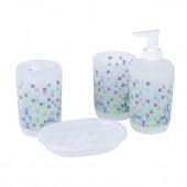 Набор для ванной 4 предмета цветные кубики мат стекло RPL-350012