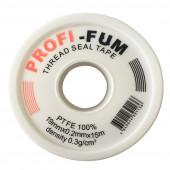 Фум лента PROFF 19мм х 0,2 х 15м (белая большая) (VR8096)