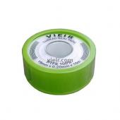 Фум-лента вода 19х0,2х16м VIEIR VR8098 (зеленая/желтая большая)