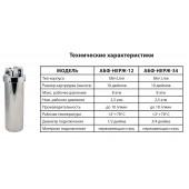 Фильтр д/воды нержавеющая сталь АФБ-НЕРЖ-3/4 СЛИМ (ключ,кронш) Аквабрайт Slim Line