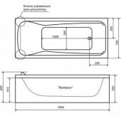 Ванна акриловая Triton Катрин на каркасе 169х70х56