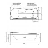 Ванна акриловая Triton Вики на каркасе 160х75х72