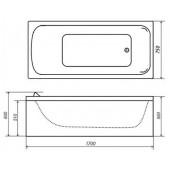 Ванна акриловая Triton стандарт 170х75