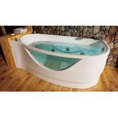 Ванна акриловая Triton Милена правая на каркасе 170х96х50