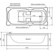 Ванна акриловая Triton Диана на каркасе 170х75х66