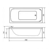 Ванна акриловая Triton стандарт 150х75