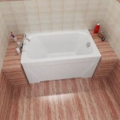 Ванна акриловая Triton Лиза на каркасе 120х70х56
