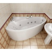 Ванна акриловая Triton Пеарл-Шелл правая на каркасе 160х104х60