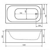 Ванна акриловая Triton стандарт 120х70