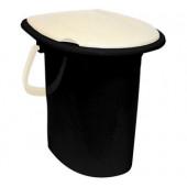 Ведро-туалет 16л_белый ротанг М2459(пластик)