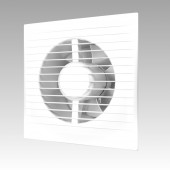 E 100 C -02, Вентилятор осевой с обратным клапаном и тяговым выключателем D 100