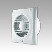 ERA 4S ET-02, Вентилятор осевой вытяжной с антимоскит.сеткой,индикация работы,таймер, тяг.выкл D100
