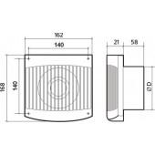 COMFORT 4, Вентилятор осевой вытяжной D 100