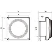 DISC 5C, Вентилятор осевой вытяжной с обратным клапаном D 125