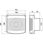 FAVORITE 4C, Вентилятор осевой вытяжной с обратным клапаном D 100