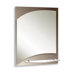 Зеркало с полкой 70х50 см.(ПРИМА)